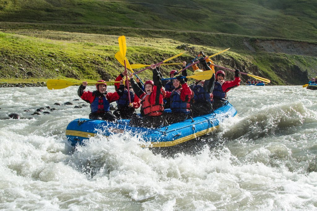Rafting in North Iceland
