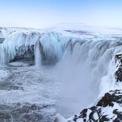 Goðafoss in winter time