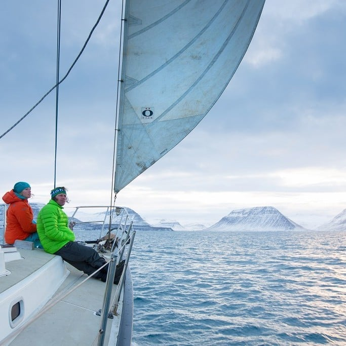 Sailing over the Arctic Circle