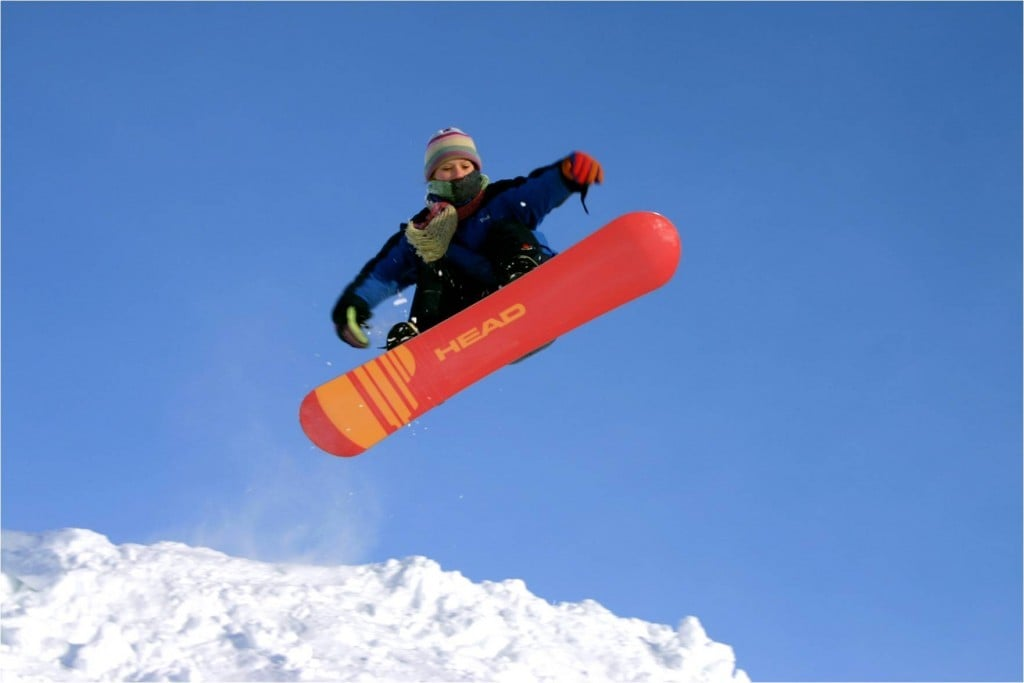Snowboards in North Iceland