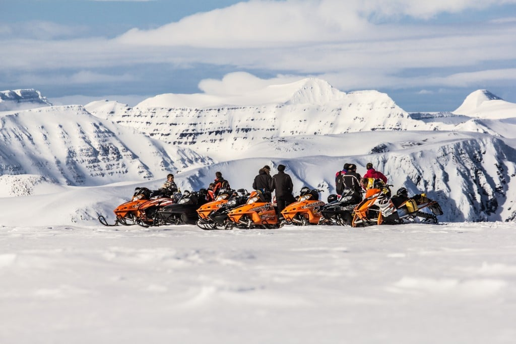 Snowmobiling in North Iceland