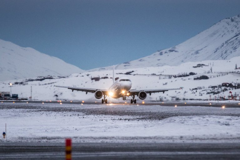 Super Break og Titan Airways lentu á Akureyri í dag